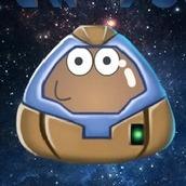 Игра Защити Поу от космический атаки