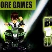 Игра Бэн 10: гоняй на квадроциклах 3Д