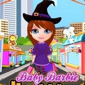 Игра Шопинг малышки Барби на Хеллоуин