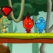 Игра Огонь и Вода против динозавров