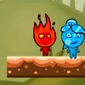 Игра Огонь и Вода на летающем острове