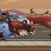 Игра Спорткар против динозавра