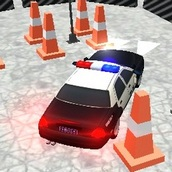 Парковка полицейского автомобиля