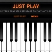 Игра Пианино на весь экран