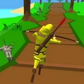 Робин Гуд: бег по лесу