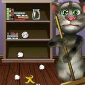 Кот Том: Уборка комнаты