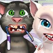 Игра Кот Том и Анжела: У Дантиста