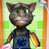 Игра Говорящий кот Том: Грязнуля
