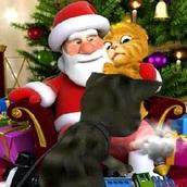 Игра Говорящий кот Том: Санта и Джинджер