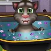 Кот Том: Принимает Ванну