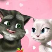 Игра Кот Том: Поцелуй с Анжелой