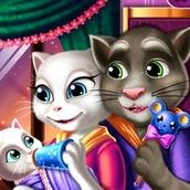 Игра Говорящий кот Том: Уход за Ребенком