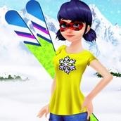 Игра Леди Баг: катание на лыжах
