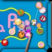 Игра Свинка Пеппа бильярд.