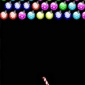 Игра Новогодняя стрелялка шариками в виде игрушек