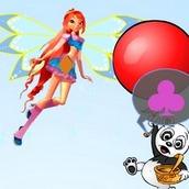 Игра Блум и панды путешественники