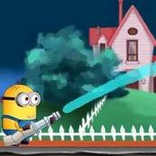 Игра Миньоны пожарные