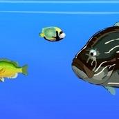 Игра Рыбка ест рыбку на двоих