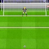 Забей гол в футболе во время пенальти