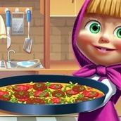 Игра Маша готовит пиццу