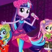 Игра Девочки из Эквестрии музыкальная битва