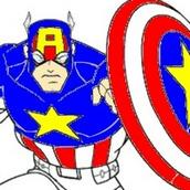 Игра Раскраска Капитан Америка