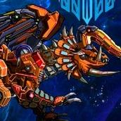 Игра Робот: динозавр трицератопс
