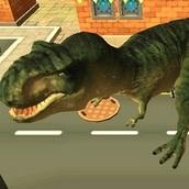 Симулятор динозавр в городе
