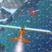 Самолет в снежной буре