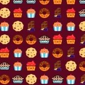Игра Три в линию: сладости
