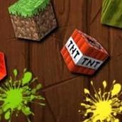 Игра Ниндзя режет блоки майнкрафт