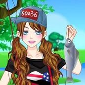 Игра Одевалка на модную рыбалку на оценку