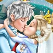 Игра Свадьба Эльзы: поцелуи
