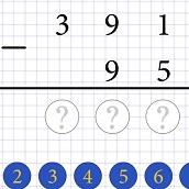 Игра Учимся Вычитать Столбиком: математика онлайн