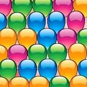 Игра Три в ряд с разноцветными шариками