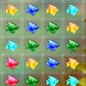 Игра Три в ряд: собери рыбок