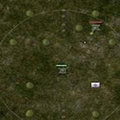 Военные танки на поле боя