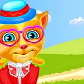 Игра Говорящий кот Рыжик: одевалка
