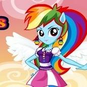 Игра Радуга Дэш Девушка Эквестрии: одевалка с пони