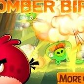 Игра Птички из Энгри Бердз ставят бомбы