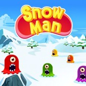 Игра Снеговик пакман