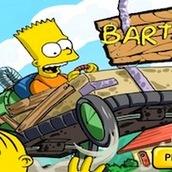 Игра Барт Симпсон катается на машине