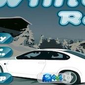 Игра Зимняя гонка на машинах