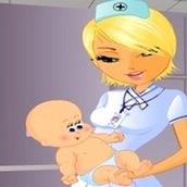 Игра Операция на роды: одевалка