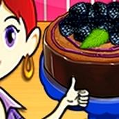 Игра Готовить Малиновый чизкейк: Кухня Сары