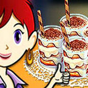 Игра Готовить Тирамису в стаканчиках: Кухня Сары