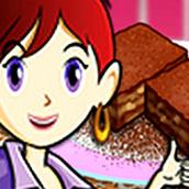 Игра Готовить Карамельный брауни: Кухня Сары
