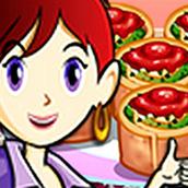 Игра Готовить Ротоло со шпинатом: Кухня Сары