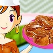 Игра Готовить Рулетики с карамелью: Кухня Сары