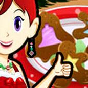 Игра Готовить Стеклянное печенье: Кухня Сары